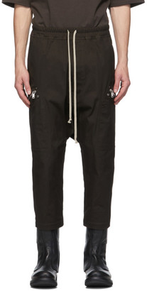 Rick Owens Brown Cropped Performa Trousers