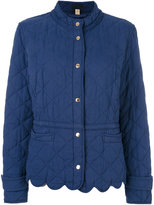 Burberry - scallop trim quilted jacke