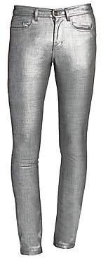 Saint Laurent Men's Metallic Slim-Fit Jeans