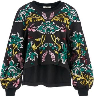 Alice + Olivia Gaia puff sleeve sweatshirt