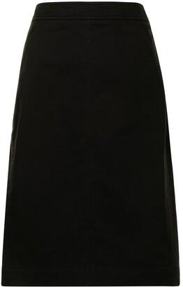 1990s Pre-Owned Knee-Length Pencil Skirt