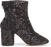 Maison Margiela Sequined leather ankle boots