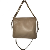 Salvatore Ferragamo Beige Leather Handbag
