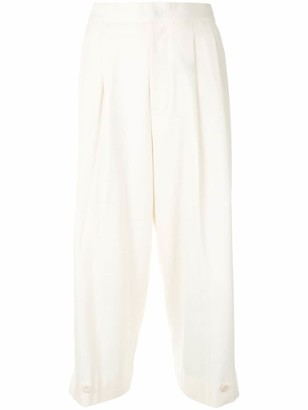 Y's Crop-Leg Tapered Trousers