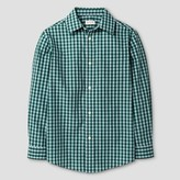 Cat & Jack Boys' Button Down Shirt Cat & Jack - Green Blue Checks