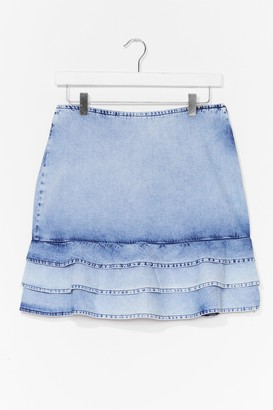 Nasty Gal Womens You Better Wash Out Denim Mini Skirt - Washed Blue