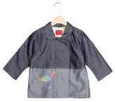Kenzo Girls' Two-Tone Chambray Jacket