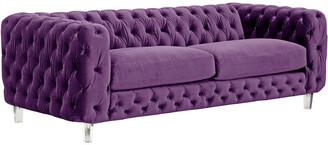 Chic Home Syracus Purple Velvet Sofa