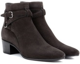Saint Laurent Blake 40 Jodhpur suede ankle boots