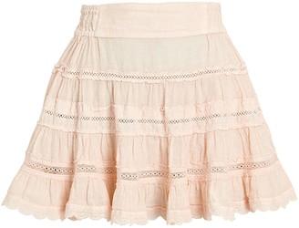 Sunday Saint Tropez Clarisse Embroidered Linen Mini Skirt