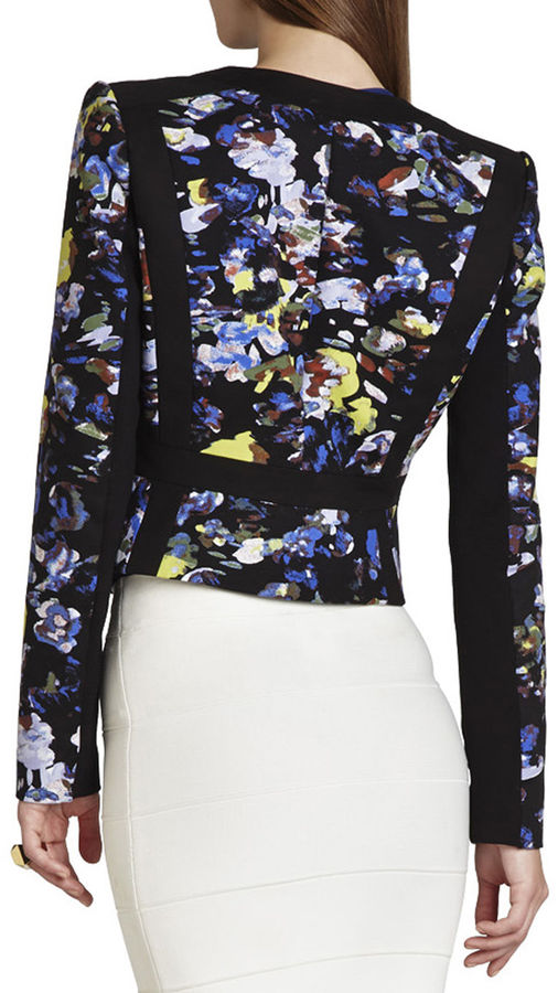 BCBGMAXAZRIA Keeley Print-Blocked Jacket