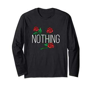 Women Summer Nothing Rose Print Graphic Long Sleeve T-Shirt
