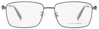 Alexander McQueen Skull-embellished Square Metal Glasses - Grey