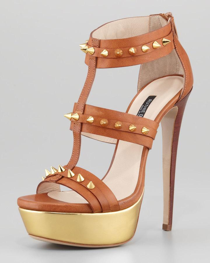 Ruthie Davis Bartley Studded Platform Gladiator Sandal