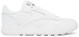 Maison Margiela White Reebok Edition Classic Leather Tabi Sneakers