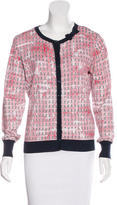 RED Valentino Printed Knit Cardigan