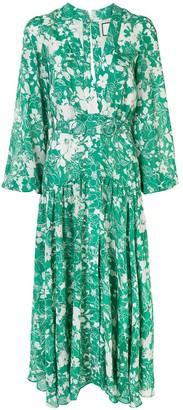 Alexis Floral Print Midi Dress
