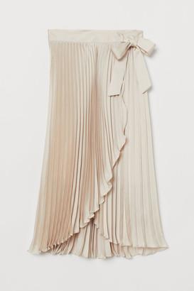 H&M Pleated wrapover skirt