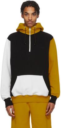 Marni Black and Yellow Colorblock Hoodie