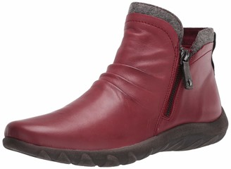 Cobb Hill Amalie Side Zip Boot Red