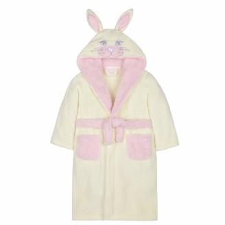 Lora Dora Girls 3D Bunny Rabbit Hooded Dressing Gown Grey 4-5 Years