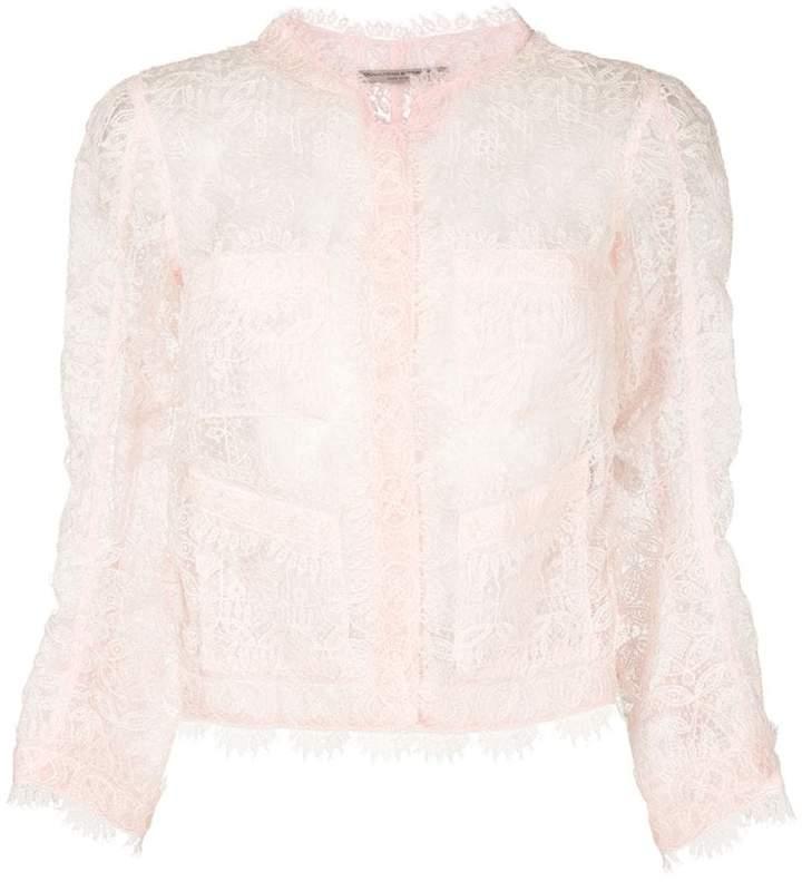 Ermanno Scervino sheer lace cropped blazer