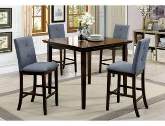 Red Barrel Studio Hann Wooden 5 Piece Counter Height Dining Table Set Red Barrel Studio Color: Brown