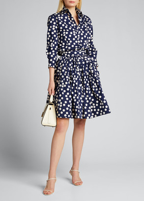 Carolina Herrera Polka Dot Skirt with Ruffled Waistband