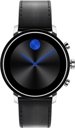 Movado Bold Connect 2.0 Leather Strap Smart Watch, 42mm