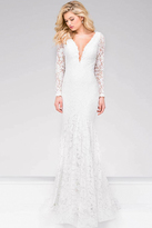 Jovani Lace Form Fitting Pro Dress 50026