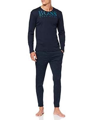 BOSS Men's Relax Long Set Pyjama (Dark Blue 407), X-Large