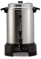 West Bend 13500 55-Cup Polished-Aluminum Commercial Coffee Urn by Westbend