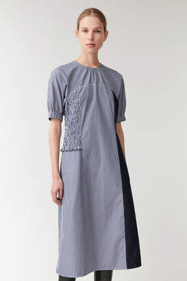 Cos SMOCKED COTTON DRESS