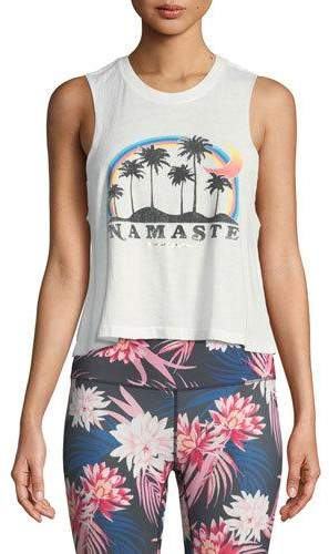 Spiritual Gangster Namaste Beach Crop Tank