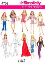 Simplicity Sewing Pattern 4702 One Size Doll Clothes
