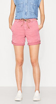 Esprit Stretch cotton shorts with a braided belt