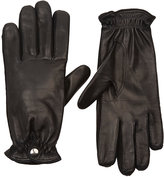 Barneys New York Women's Cashmere-Lined Leather Gloves-BLACK
