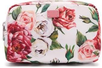 Dolce & Gabbana Floral Print Make Up Bag - Womens - Pink White