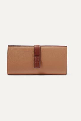 Loewe Textured-leather Wallet - Tan