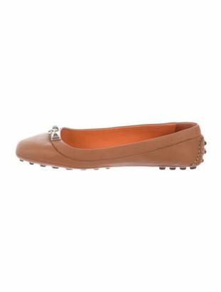 Hermes Collier de Chien Ballet Flats Leather Ballet Flats Brown