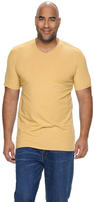 Sonoma Goods For Life Big & Tall Supersoft Solid Slim-Fit V-Neck Tee