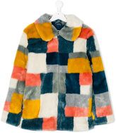 Stella McCartney patchwork fur coat - kids - Acrylic/Modacrylic/Polyester - 14 yrs