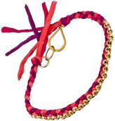 Ariel Gordon Magenta And Pink Silk Rolo Bracelet