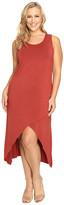 Culture Phit Plus Size Flynne Sleeveless Cross-Bottom Dress