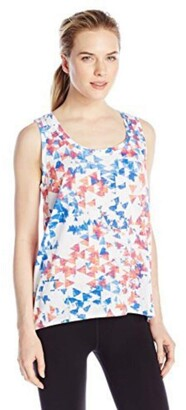 Andrew Marc Women's Printed Scoop Neck Tank
