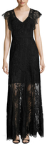 Rebecca Taylor Lace Cap Sleeve Gown