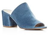 Kenneth Cole Vega Suede High Heel Slide Sandals