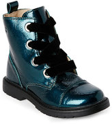 Naturino Kids Girls) Teal Cap Toe Lace-Up Boots
