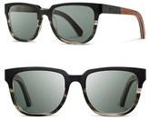 Shwood Men's 'Prescott' 52Mm Titanium & Wood Sunglasses - Antique Bronze/ Dark Walnut
