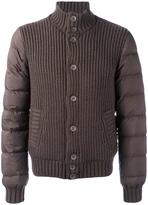 Herno padded sleeves jacket - men - Feather Down/Polyamide/Polyurethane/Wool - 48